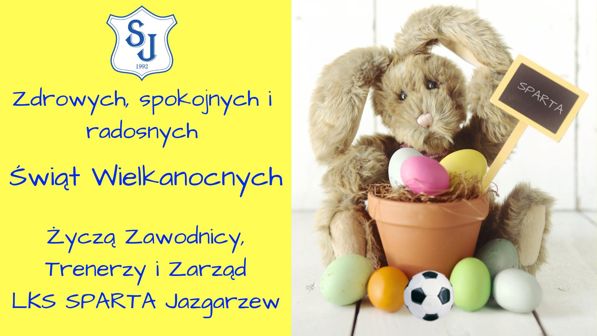 Zdrowych, radosnych i pogodnych Świąt Wielkanocnych.